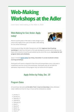 Web-Making Workshops at the Adler