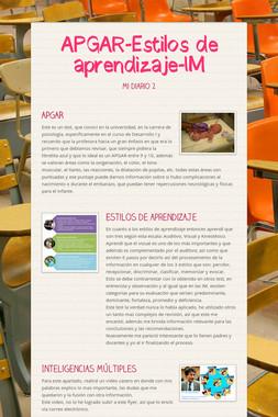 APGAR-Estilos de aprendizaje-IM