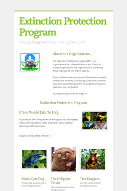 Extinction Protection Program