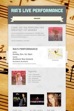 RIA'S LIVE PERFORMANCE
