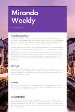 Miranda Weekly