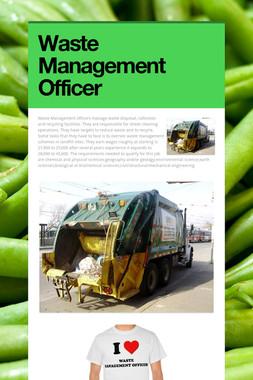 Waste Management Officer
