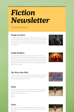 Fiction Newsletter