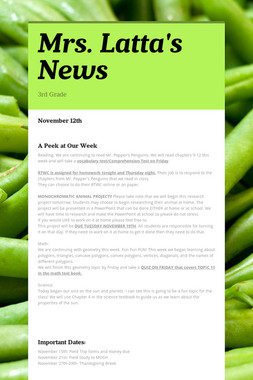 Mrs. Latta's News
