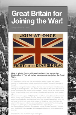 Great Britain for Joining the War!