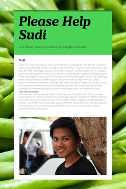 Please Help Sudi