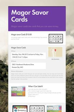 Magor Savor Cards