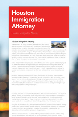 Houston Immigration Attorney