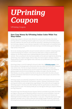 UPrinting Coupon