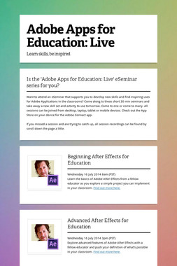 Adobe Apps for Education: Live