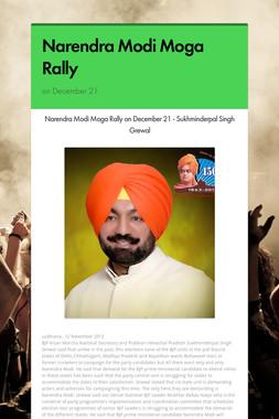 Narendra Modi Moga Rally