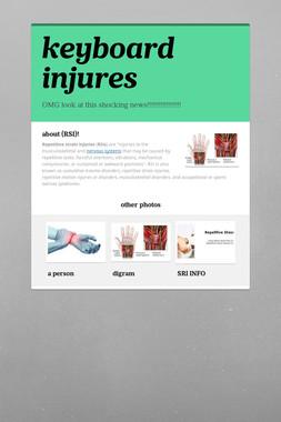 keyboard injures