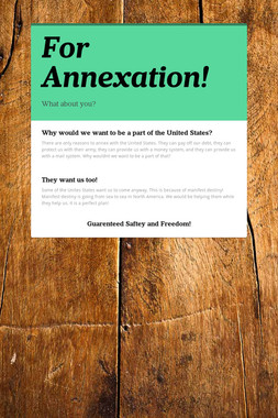 For Annexation!