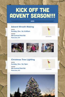 Kick Off the Advent Season!!!