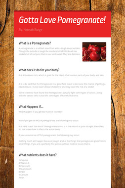 Gotta Love Pomegranate!