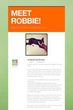 MEET ROBBIE!
