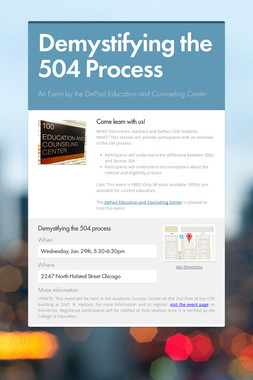 Demystifying the 504 Process