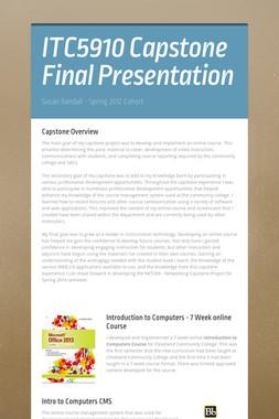 ITC5910 Capstone Final Presentation