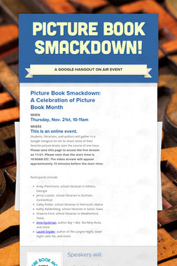 Picture Book Smackdown!