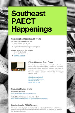 Southeast PAECT Happenings