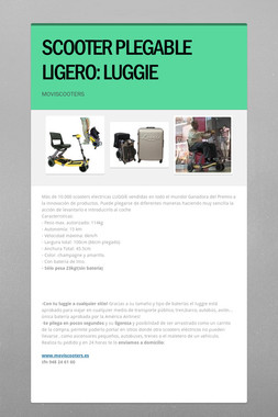SCOOTER PLEGABLE LIGERO: LUGGIE