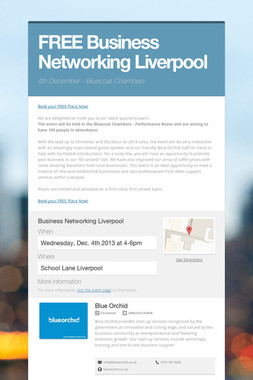 FREE Business Networking Liverpool