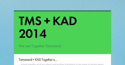 TMS + KAD 2014