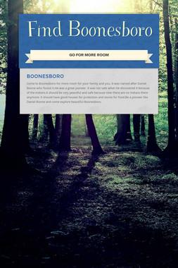 Find Boonesboro