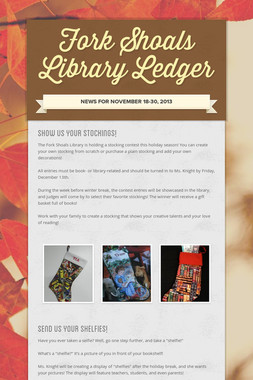 Fork Shoals Library Ledger