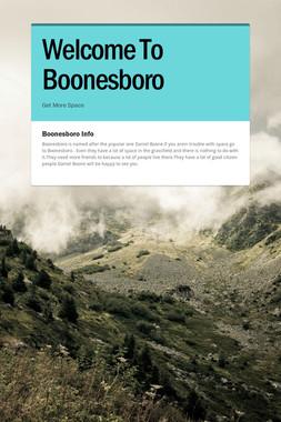 Welcome To Boonesboro