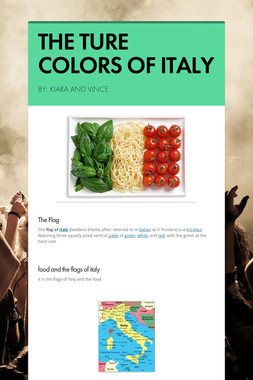 THE TURE COLORS OF ITALY