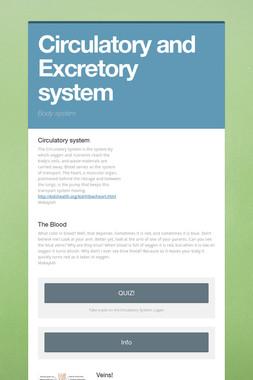 Circulatory and Excretory system
