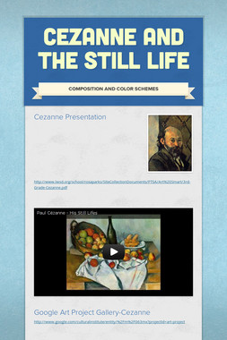 Cezanne and the Still Life