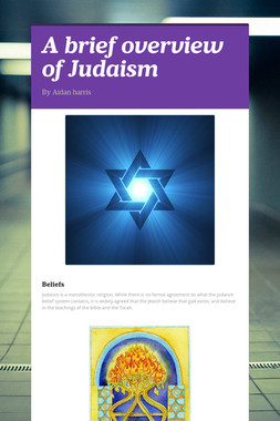 A brief overview of Judaism