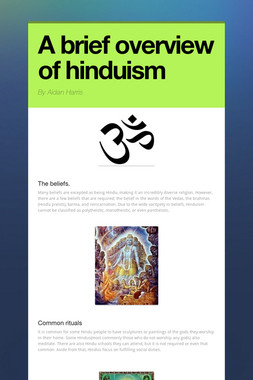 A brief overview of hinduism