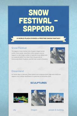 Snow festival – Sapporo