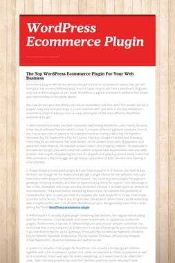 WordPress Ecommerce Plugin