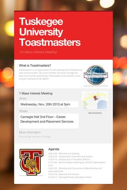 Tuskegee University Toastmasters
