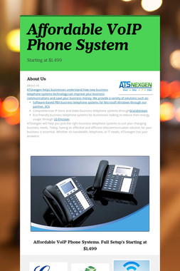 Affordable VoIP Phone System
