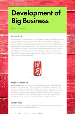 Development of Big Business
