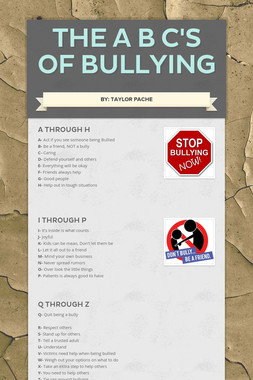 The A B C's of bullying