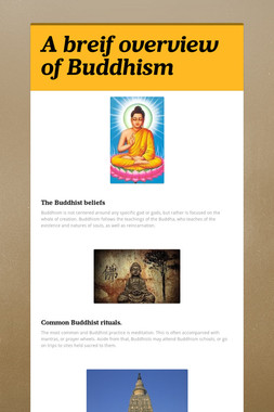 A breif overview of Buddhism