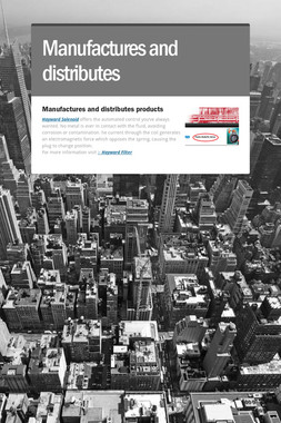 Manufactures and distributes