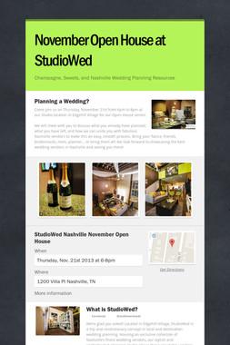 November Open House at StudioWed
