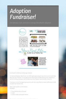 Adoption Fundraiser!