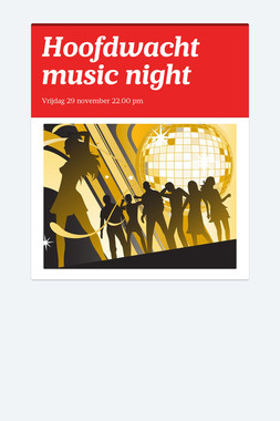 Hoofdwacht music night