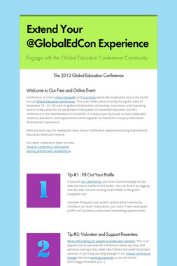 Extend Your @GlobalEdCon Experience