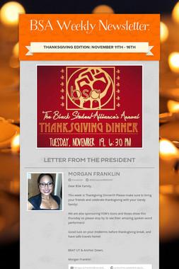 BSA Weekly Newsletter: