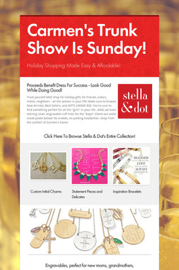 Carmen's Trunk Show Is Sunday!