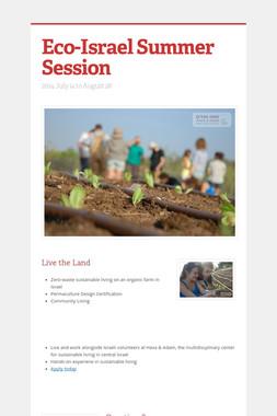 Eco-Israel Summer Session
